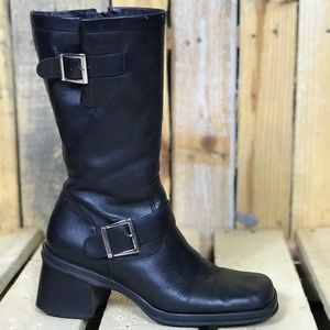 Women's Connie Buckle ridding leather boots 7.5 M